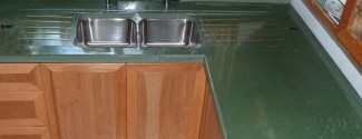 Heather concrete counter top by Molded Stone